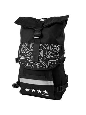 Рюкзак чорний в принт   5746726