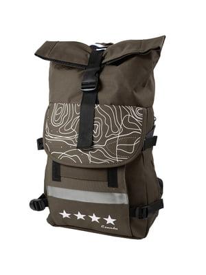 Рюкзак коричневий в принт   5746727