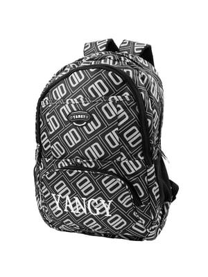 Рюкзак чорний в принт   5746459