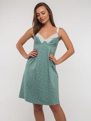 Ночная рубашка серо-зеленая | 5358313