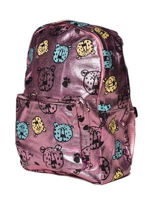 Рюкзак рожевий з принтом | 5761366