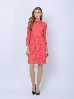 Платье кораллового цвета | 5761594
