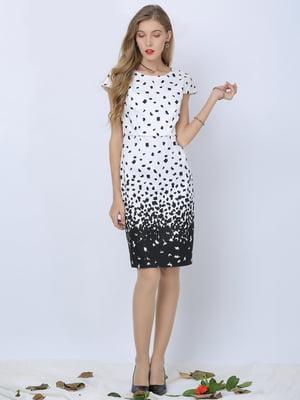 Сукня чорно-біла в принт | 5761679