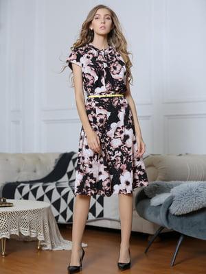 Платье двухцветное в принт   5761736