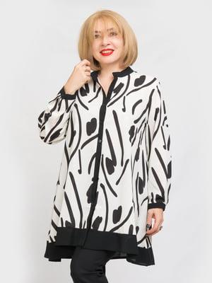 Блуза белая в принт   5763851