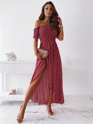 Сукня червона в принт   5760567