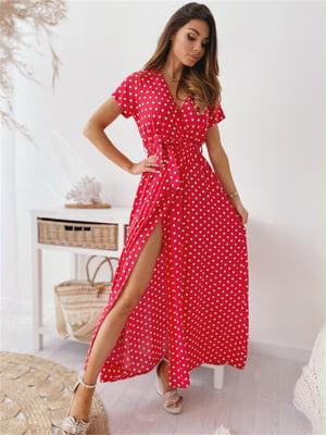 Сукня червона в горошок   5760580