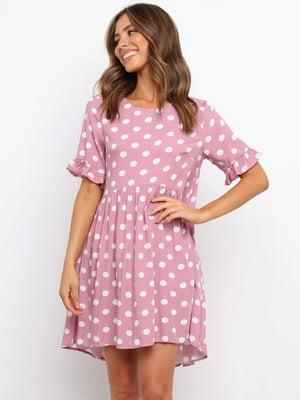 Платье пудрового цвета в горошек   5760628