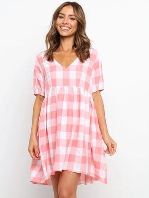 Платье двухцветное в клетку   5760629