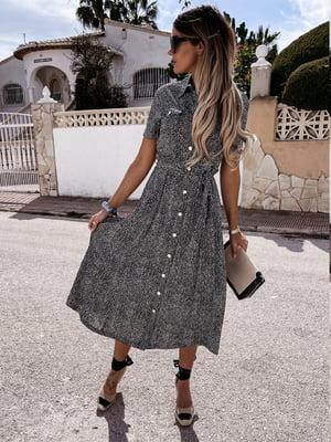 Платье черное в принт | 5760573