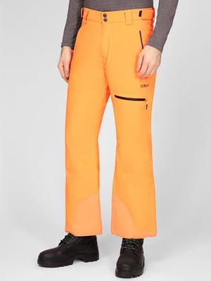 Штани гірськолижні помаранчеві | 5608072