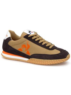 Кросівки комбінованого кольору з логотипом | 5738457
