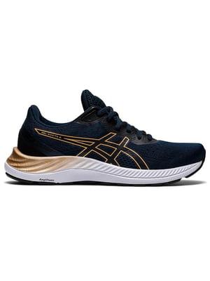 Кросівки чорні з логотипом Gel-Excite 8 1012A916-403 | 5738578