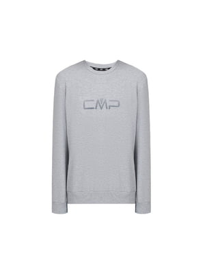 Свитшот серый с логотипом | 5738670