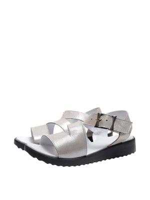Босоніжки сріблястого кольору | 5764045