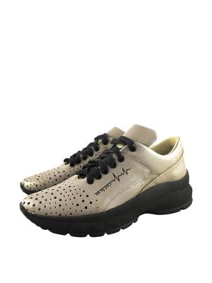 Кросівки бежеві з логотипом | 5764084