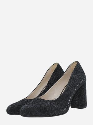 Туфлі чорні з декором   5762940