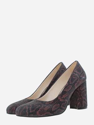 Туфлі чорні з анімалістичним візерунком   5766392