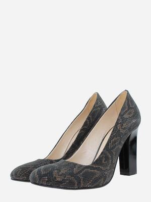 Туфлі чорні з анімалістичним візерунком   5766394