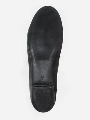 Балетки чорні з візерунком | 5757852
