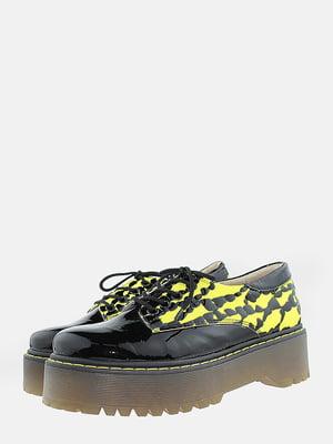 Туфлі чорні з малюнком | 5766300