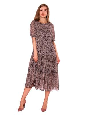 Сукня бежева у принт | 5766897