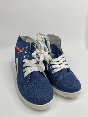 Снікерси сині з принтом | 5725517