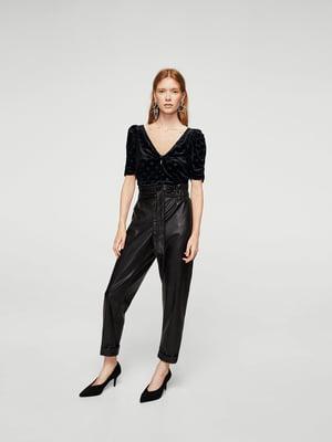 Блуза чорна в горошок | 5674584