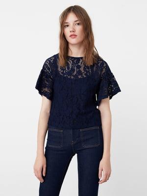Блуза синя з візерунком | 5674797