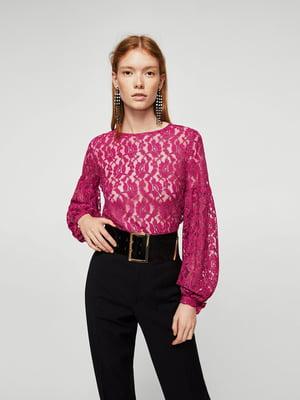 Блуза рожева з візерунком | 5767651