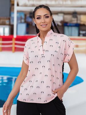 Блуза рожева в принт   5770178