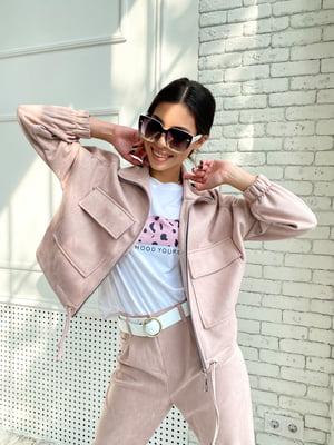 Куртка пудрового кольору | 5770085