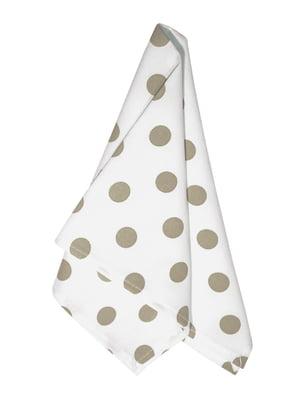 Салфетка белая в горошек (45х45 см) | 5767109