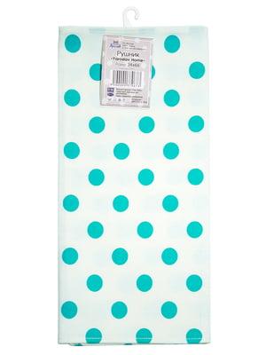 Полотенце белое в горошек (34х66 см) | 5767101