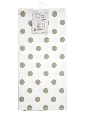 Полотенце белое в горошек (34х66 см) | 5767103