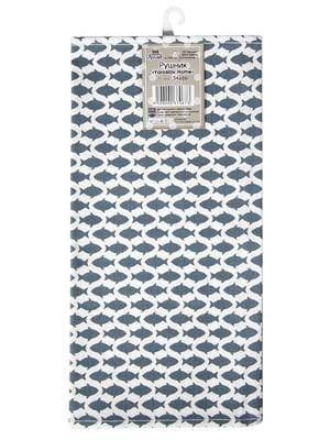 Полотенце двухцветное в принт (34х66 см) | 5767104