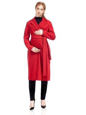 Пальто для вагітних червоне   5770495
