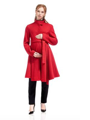 Пальто для вагітних червоне   5770511
