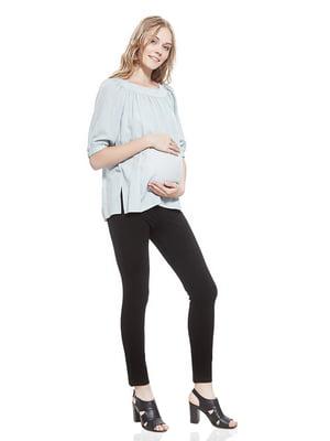 Блуза для беременных серо-голубая   5770528