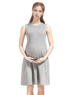 Платье для беременных светло-серое | 5770531