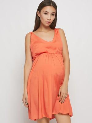 Сукня для вагітних помаранчева | 5770571
