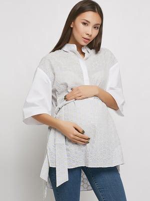 Туніка для вагітних біло-блакитна   5770572