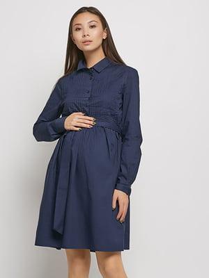 Платье для беременных темно-синее | 5770573
