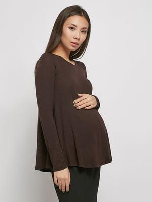 Джемпер для беременных коричневый | 5770576