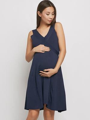 Сарафан для вагітних темно-синій | 5770578