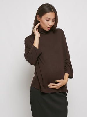 Гольф для вагітних коричневий | 5770595