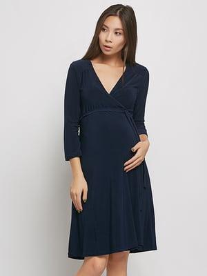 Сукня для вагітних темно-синя   5770608