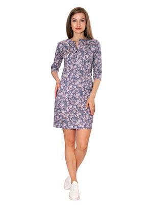 Платье сиреневого цвета в принт   5770622