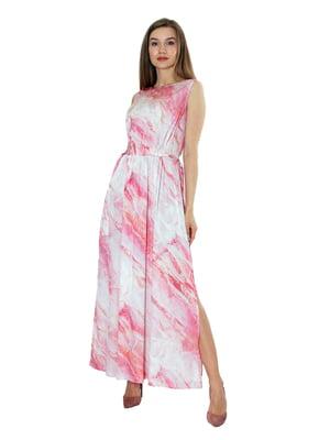 Платье бело-розовое   5770623