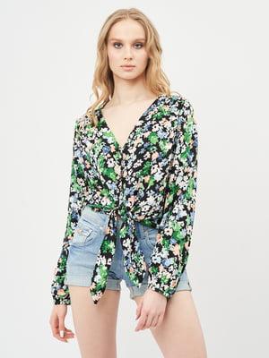 Блуза різнокольорова в принт | 5770954